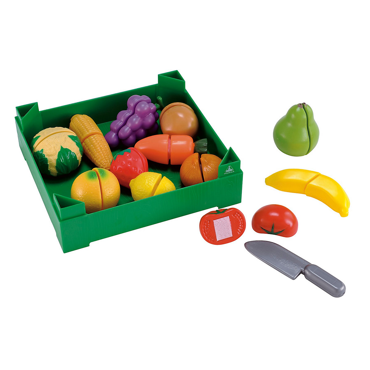 New ELC Boys Girls Crate of Cut Play Fruit Vegetables Toy 3 years - Dressing Up Gifts