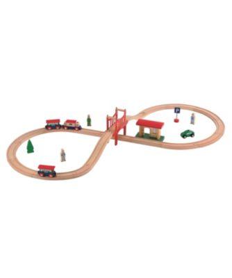 Big City Wooden Rail Figure of 8 Train Set