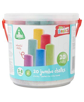 20 Jumbo Coloured Chalks