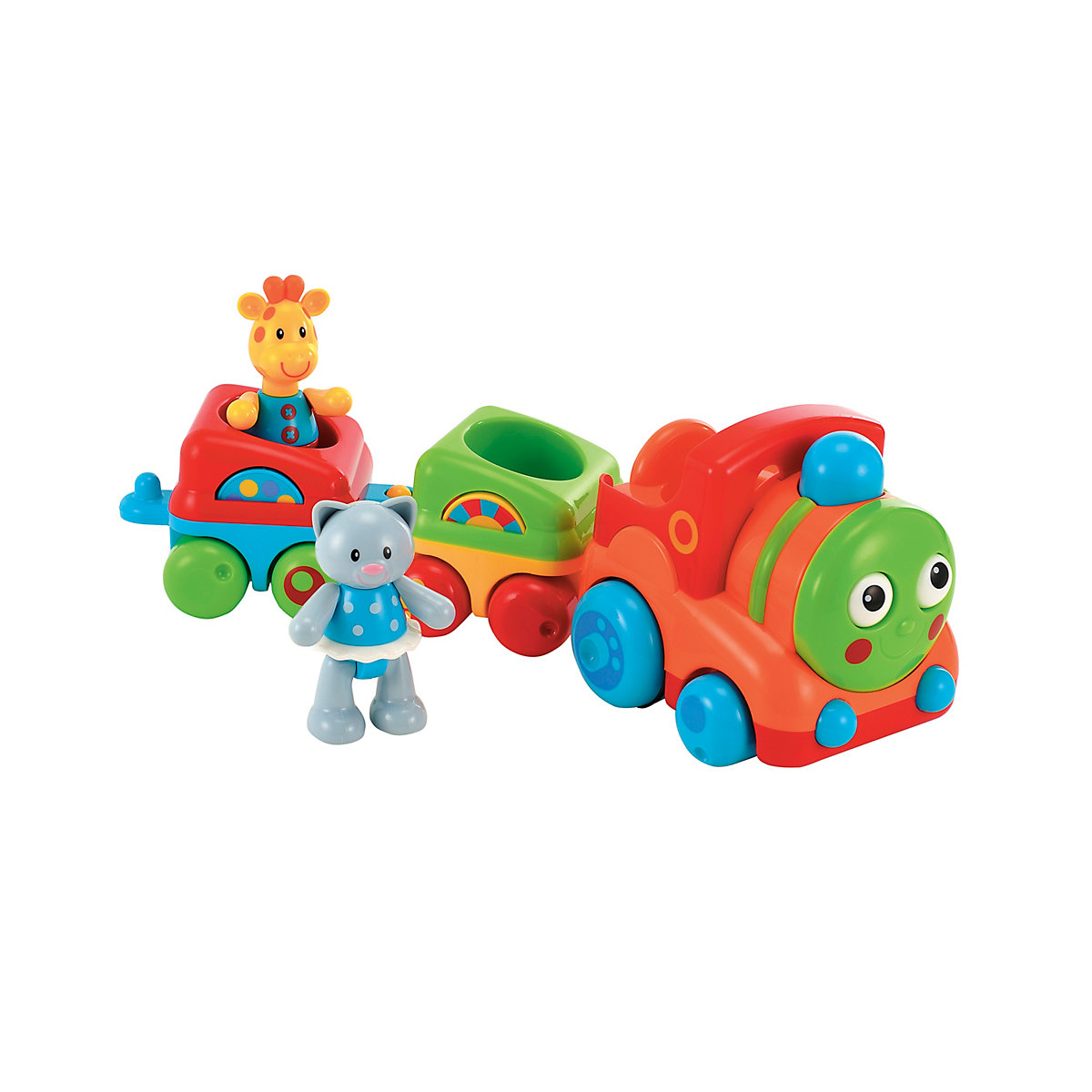 Toybox Boys and Girls Toybox Musical Animal Train Pull Along Toy From 12 months - Train Gifts