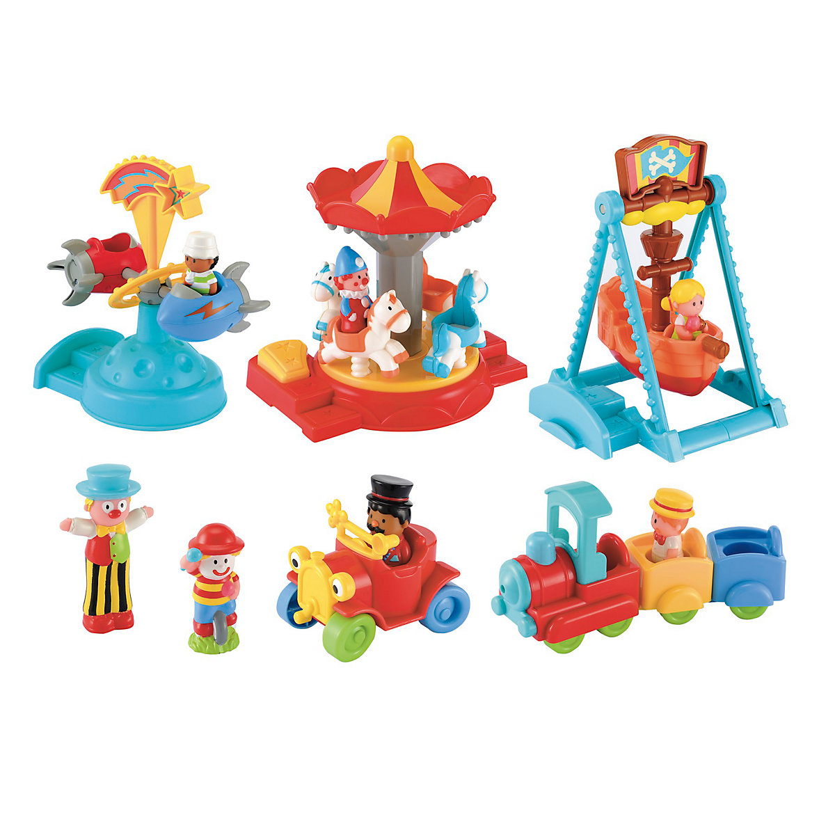 New HappyLand Boys and Girls Funfair Playset Toy From 12 months - Toy Gifts