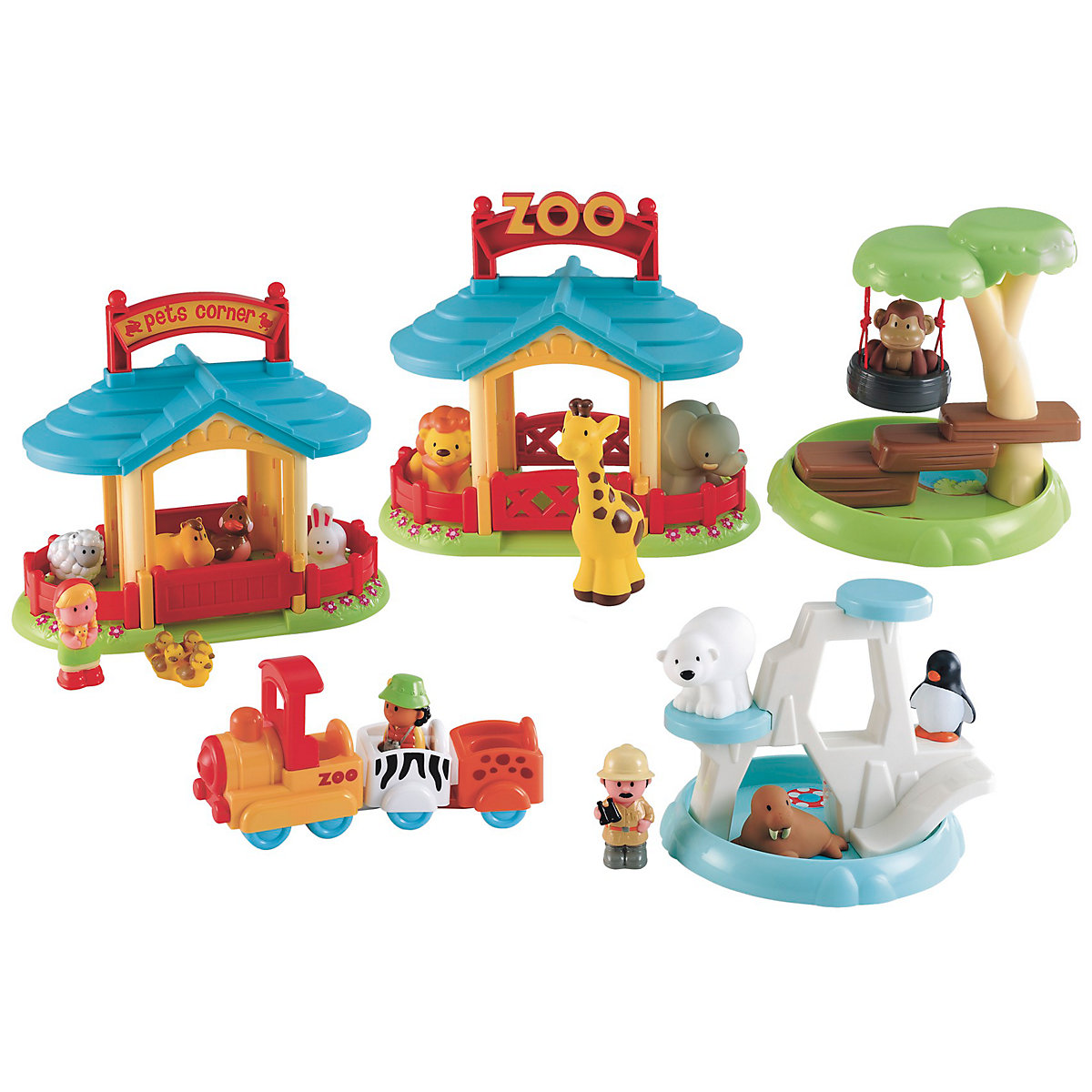 New ELC Boys and Girls Happyland Zoo Toy From 2 years - Brands Gifts