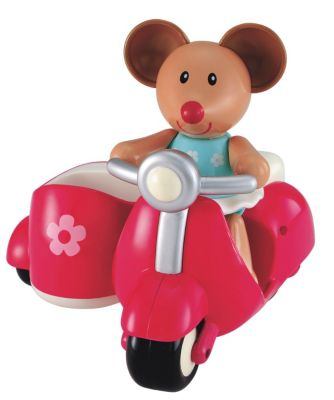 New ELC Boys and Girls Toybox Martha Mouse and her Scooter Toy From 1 year