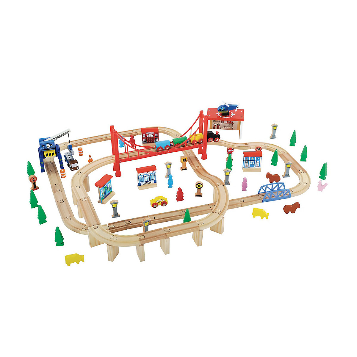 New ELC Boys and Girls Big City Adventure Train Set Toy From 3 years - Train Gifts