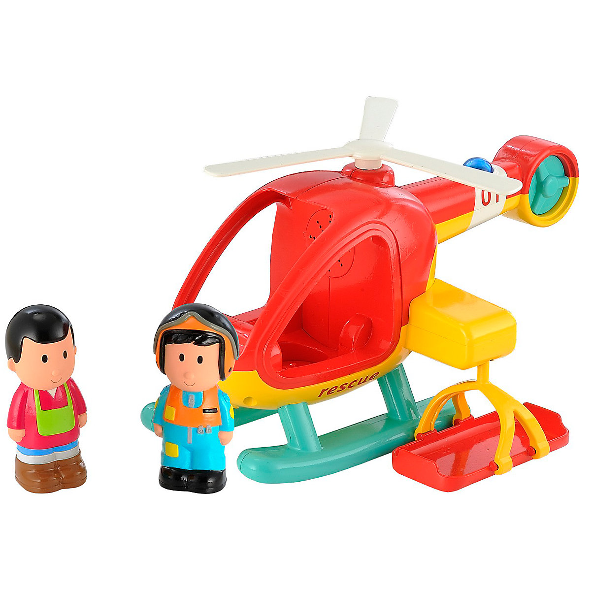 New ELC Boys and Girls Happyland Lights and Sounds Rescue Helicopter 18 months+ - Helicopter Gifts