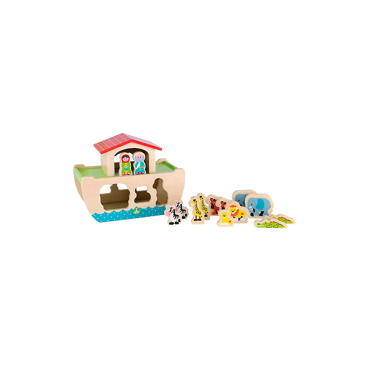 New ELC Boys and Girls Wooden Noah's Ark Toy From 12 months - Toddler Gifts