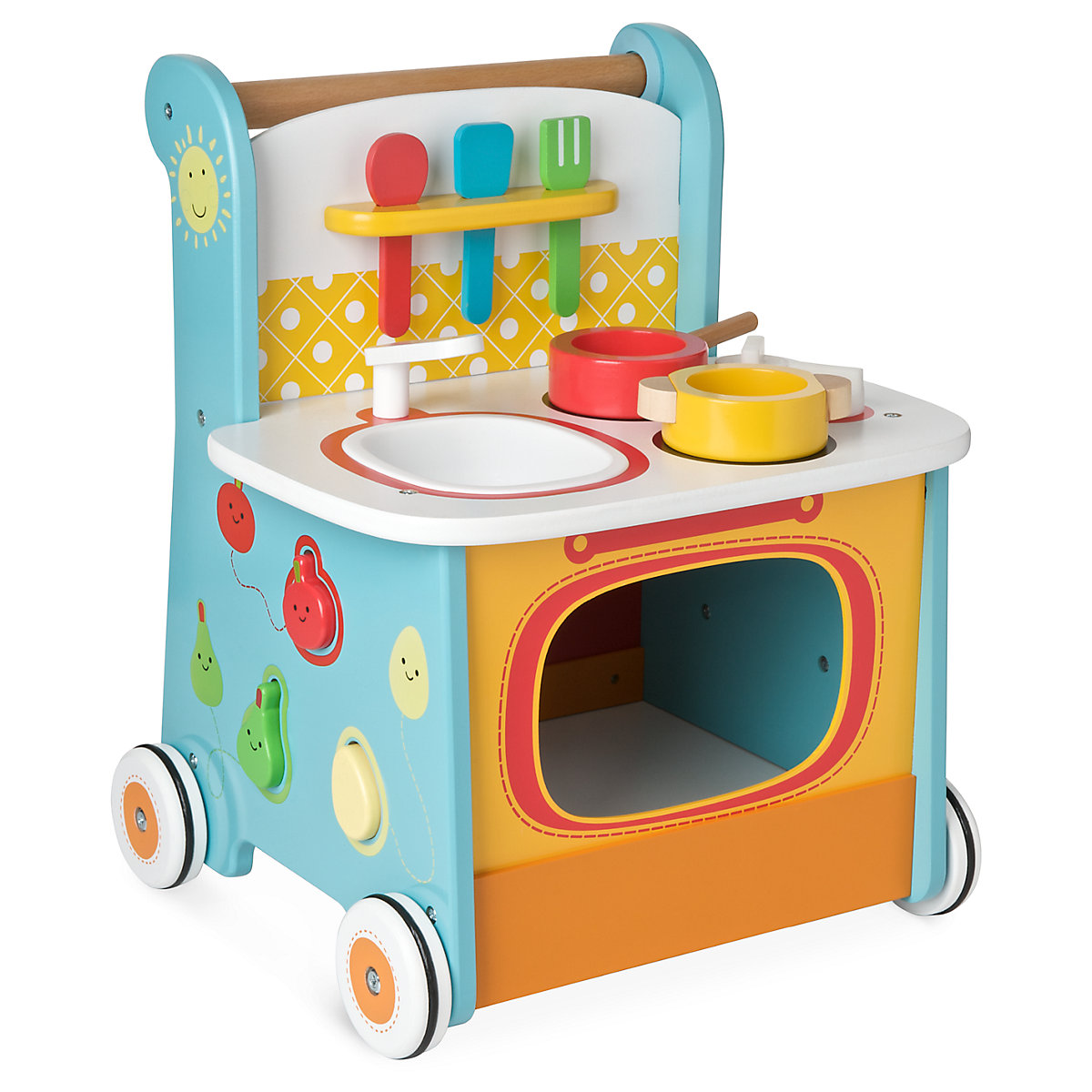 New ELC Boys and Girls Wooden Activity Kitchen Walker Toy From 12 months - Toddler Gifts