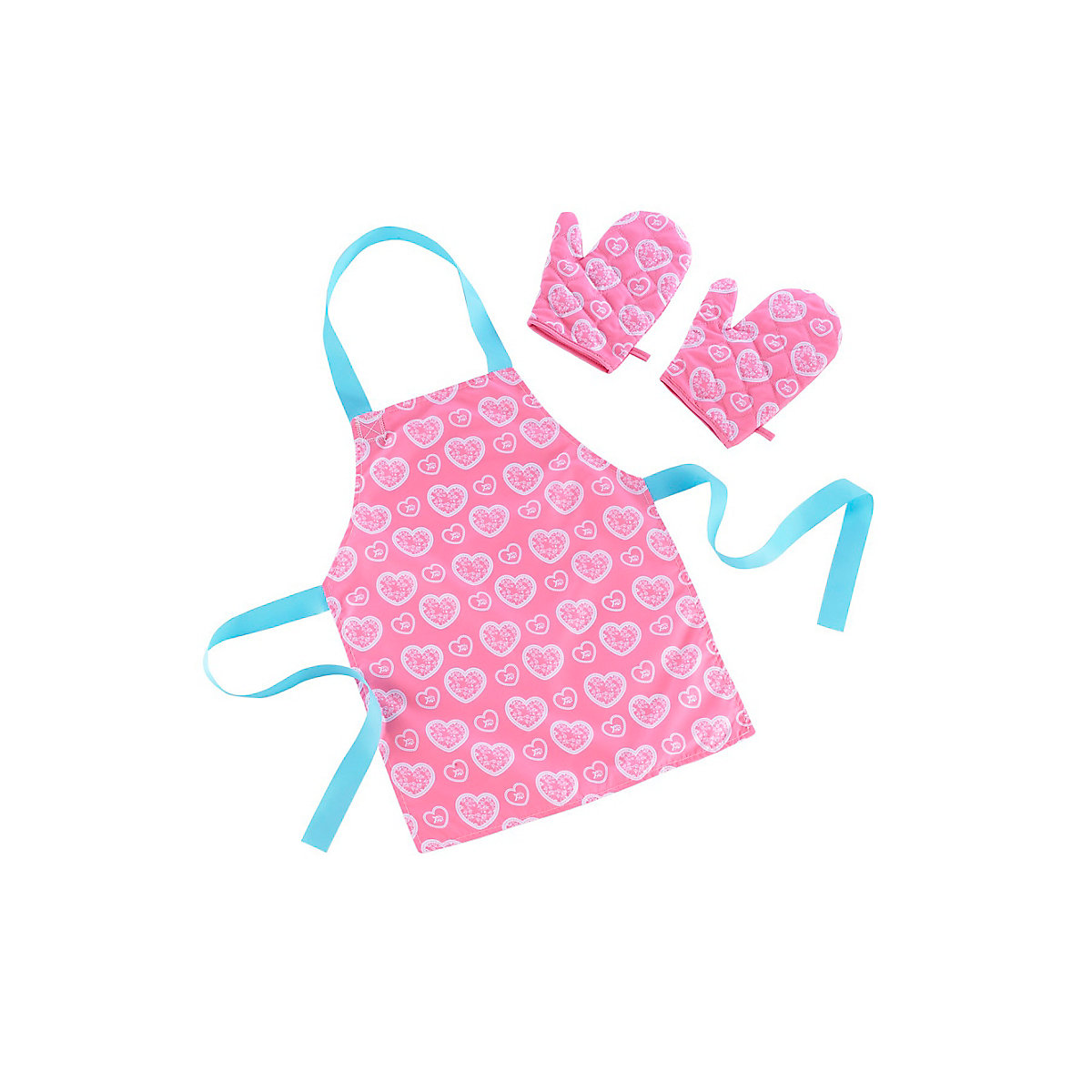 New ELC Girl Apron and Glove Set - Pink Toy From 3 years - Dressing Up Gifts