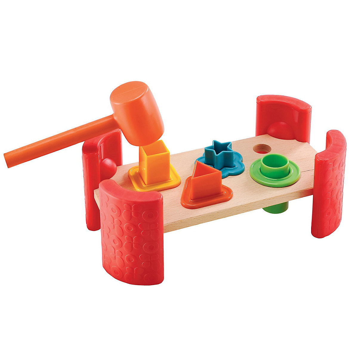 New ELC Boys and Girls Wooden Shape Hammer Bench Toy From 12 months - Bench Gifts