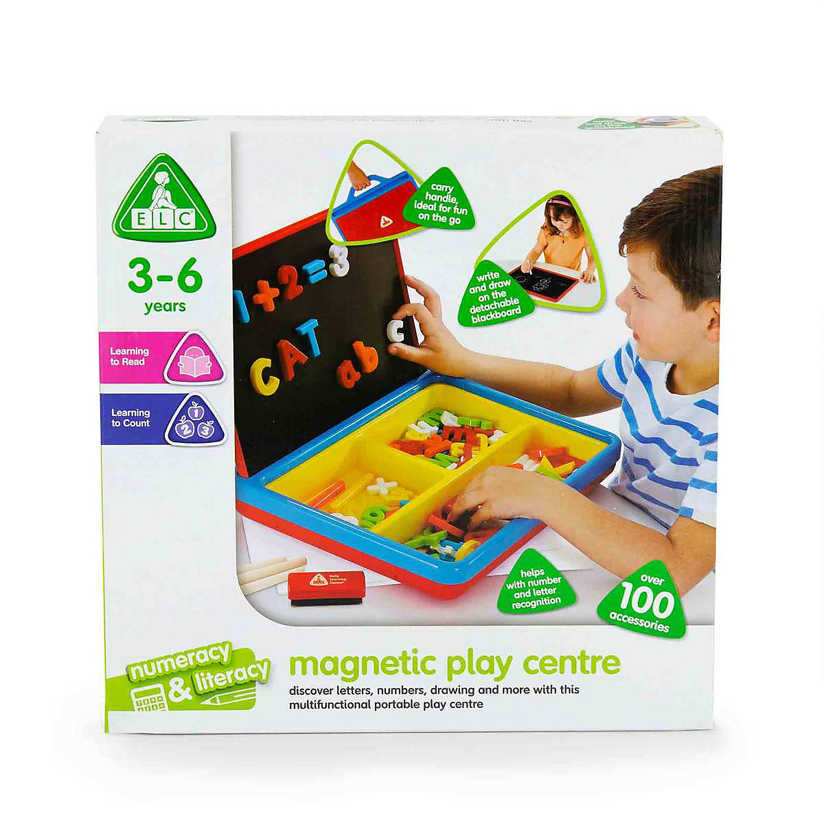 New ELC Boy Magnetic Playcentre   Red Toy From 3 Years
