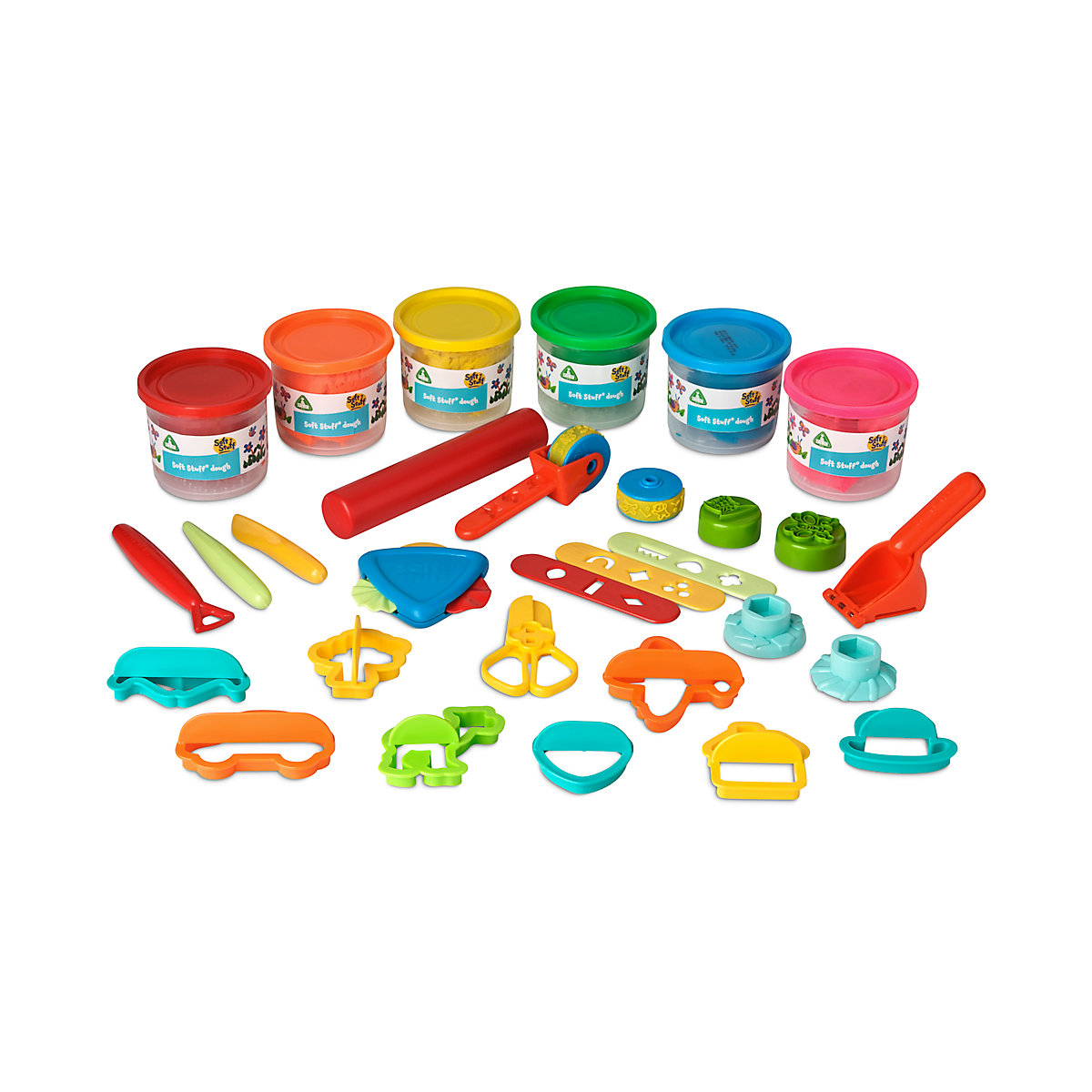 New ELC Boys and Girls Soft Stuff Bumper Dough and Tool Set Toy From 3 years