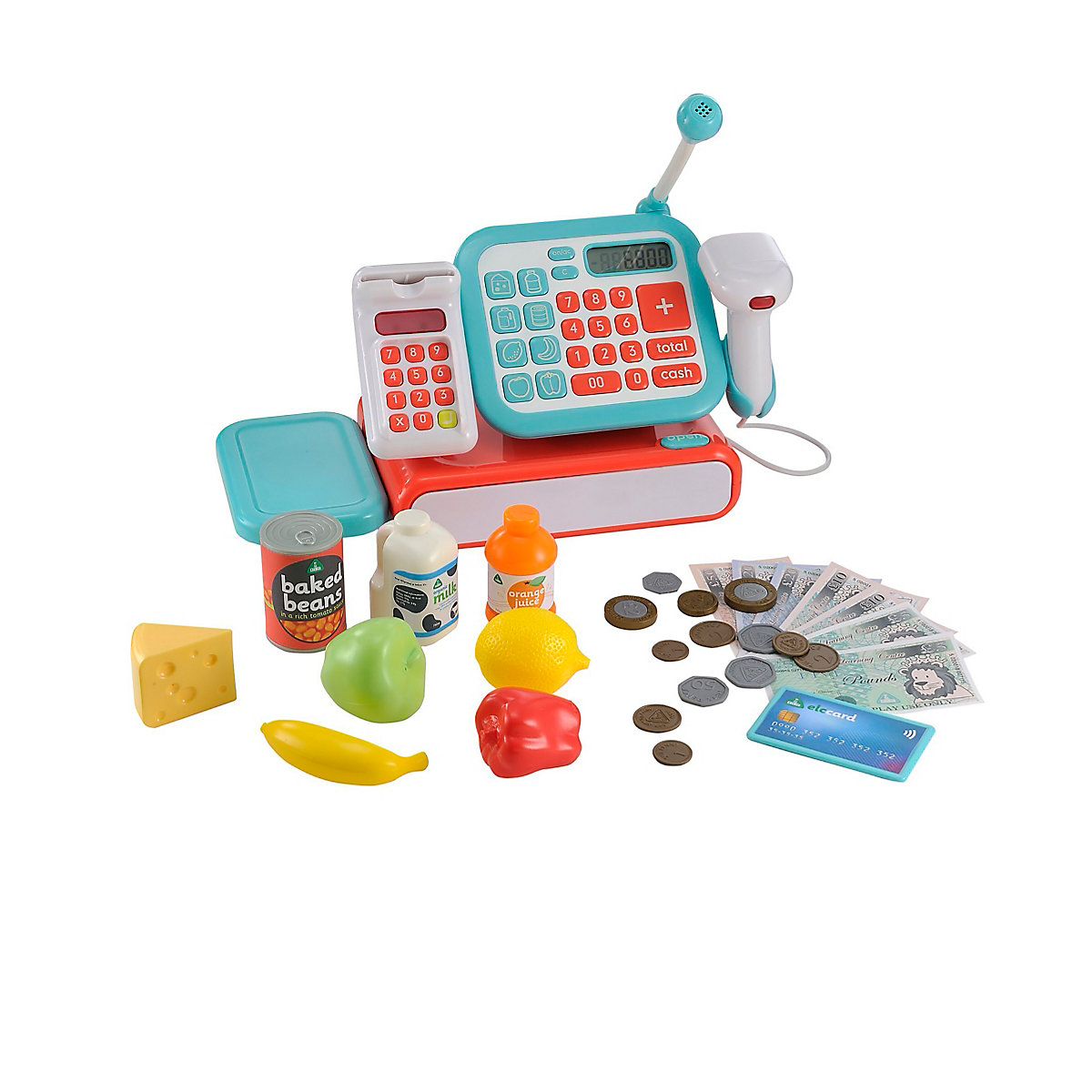 New ELC Boys and Girls Cash Register - Blue Toy From 3 years - Dressing Up Gifts