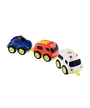 Whizz World Emergency Vehicles Magnetic Trio Set
