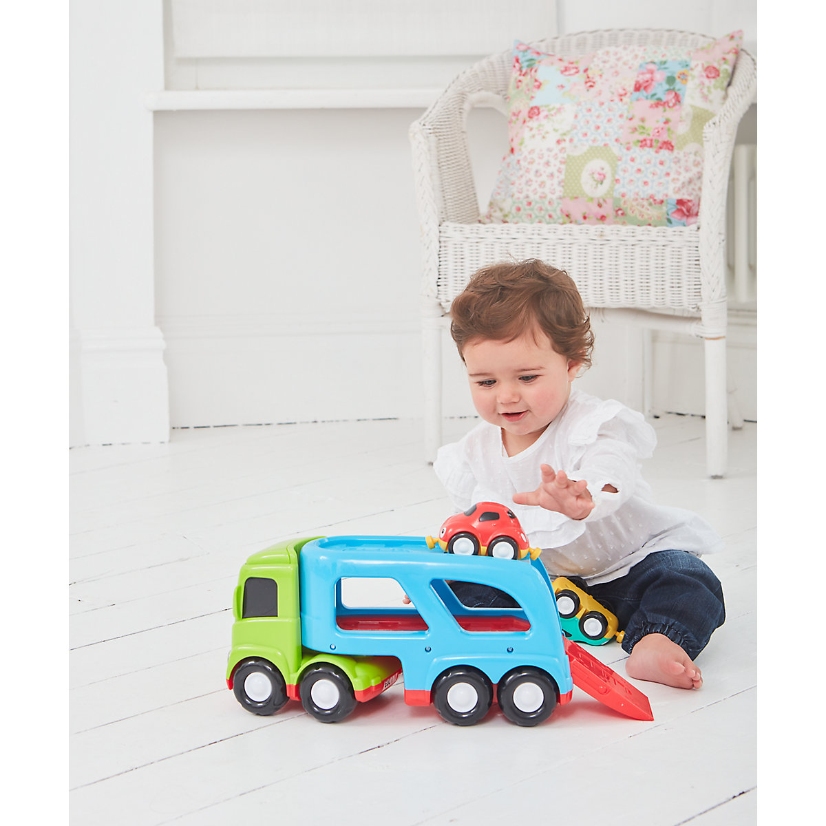 New ELC Boys and Girls Whizz World Car Transporter Toy From 12 months - Toy Gifts