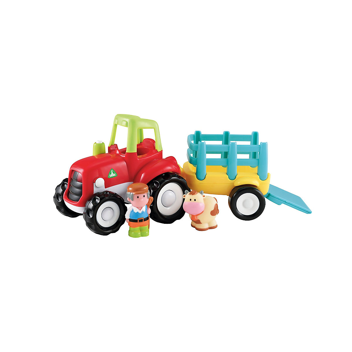 New ELC Boys and Girls Happyland Lights & Sounds Farm Tractor Toy From 12 months