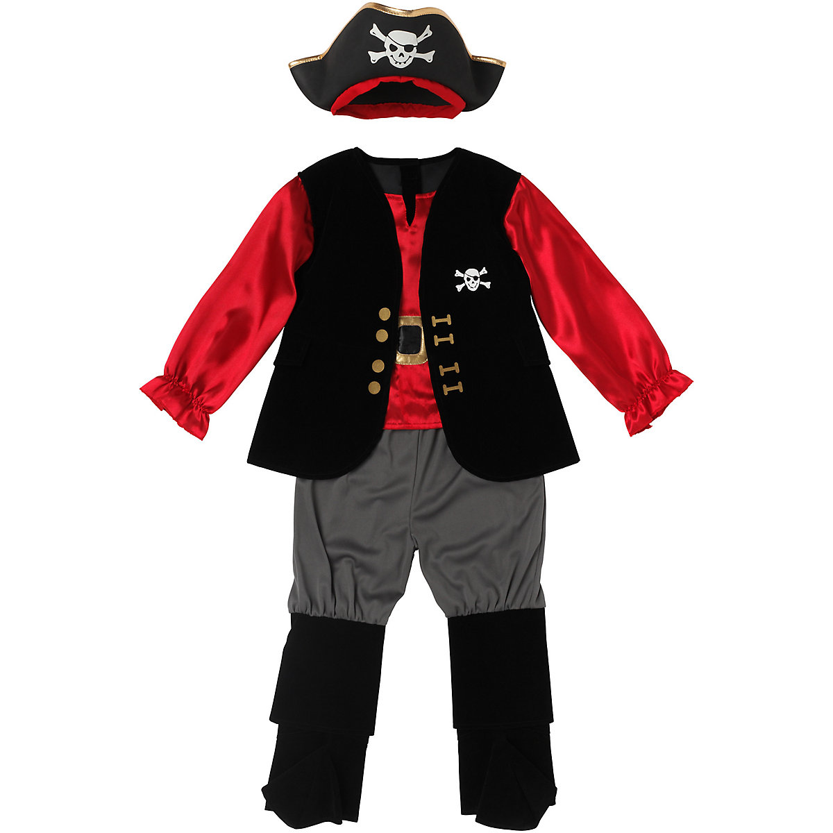 New ELC Boys and Girls Pirate Captain Outfit Toy From 3 years - Dressing Up Gifts