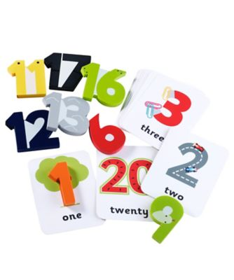 Wooden Numbers and Cards