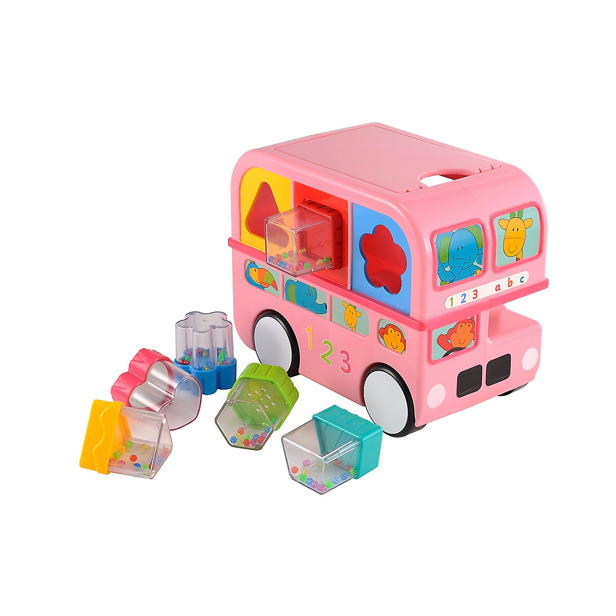 New ELC Boys and Girls Shape Sorting Bus - Pink Toy From 6 months