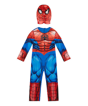 Spiderman Dress Up Costume with Mask 3-4 Years