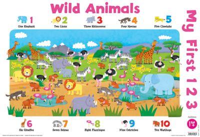 Wild Animals - My First 123 Wall Chart