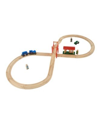 Big City Figure of 8 Wooden Rail Set