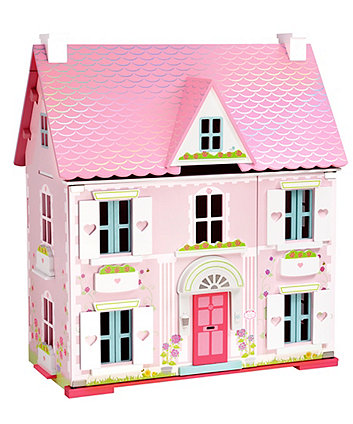 Deluxe Rosebud Doll S House With Furniture