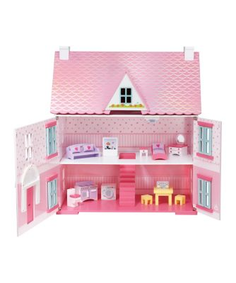 Deluxe Rosebud Doll's House with Furniture