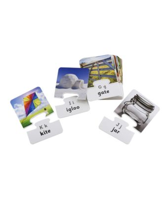 Photo and Word Puzzle Flashcards