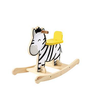 Wooden Rocking Zebra
