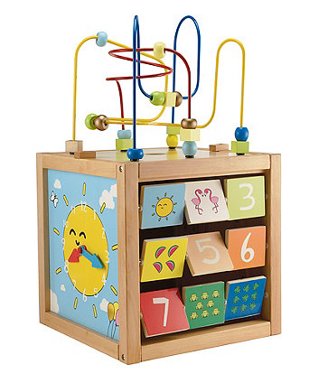Giant Wooden Activity Cube - Blue