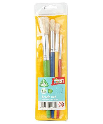 Paint Brush Set - 4 Pack