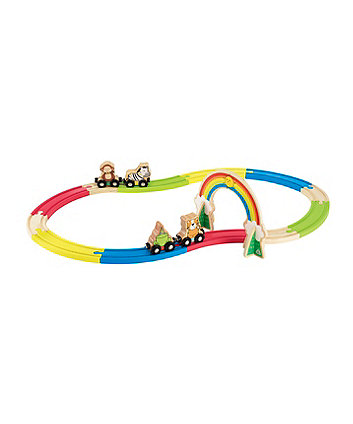 Wooden Animal Train Set