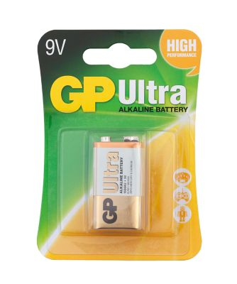 GP Ultra Alkaline 9V Battery