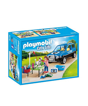 Playmobil city life mobile pet groomer with removable roof 9278