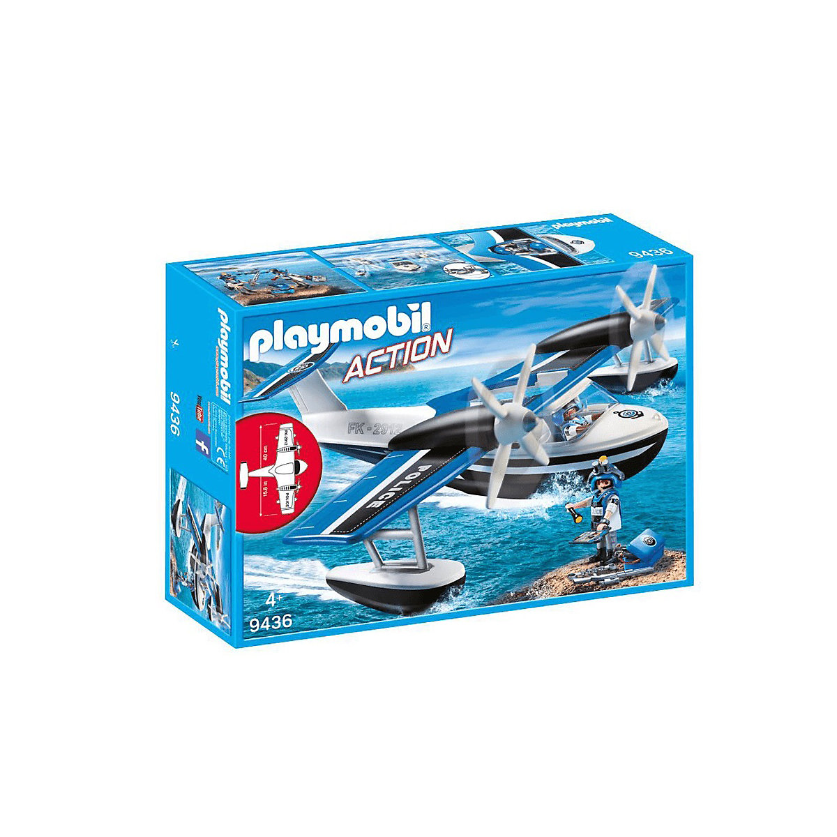 Playmobil City Action Floating Police Seaplane 9436