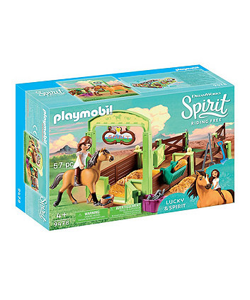 Playmobil DreamWorks Spirit Lucky and Spirit with Horse Stall 9478