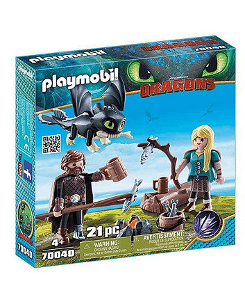 Playmobil DreamWorks Dragons Hiccup and Astrid 70040