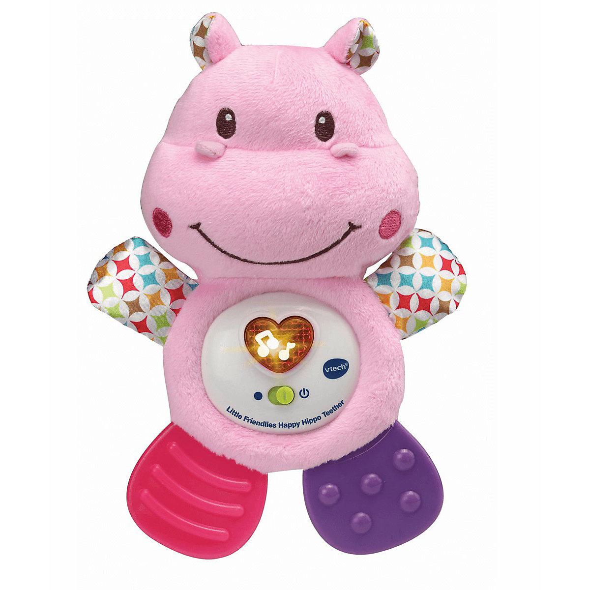 VTech Little Friendlies Happy Hippo Teether - Pink