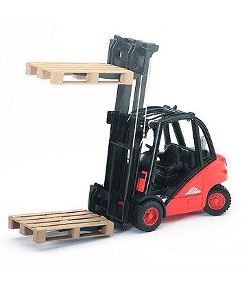 Bruder Linde fork lift H30D with 2 pallets