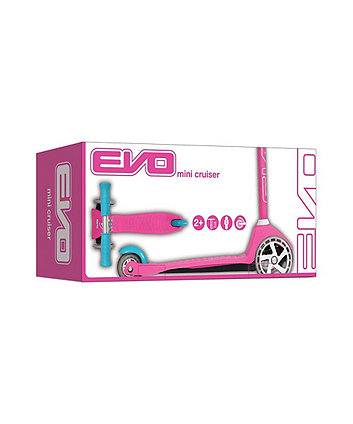 Evo 3 Wheeled Mini Cruiser Scooter Pink