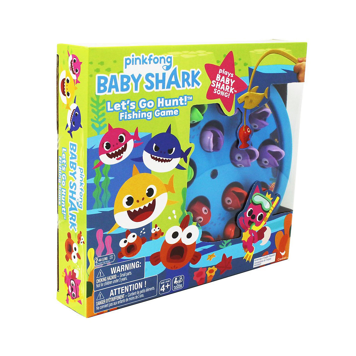 Pinkfong Baby Shark Lets Go Hunt Fishing Game Plays The Baby Shark Song