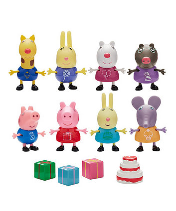 peppa pig and friends party pack figures