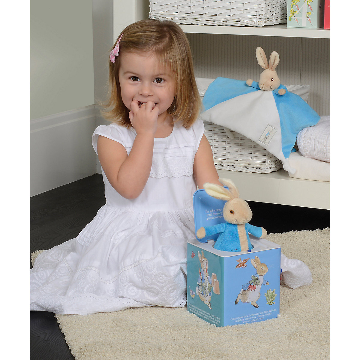 New ELC Boys and Girls Beatrix Potter Peter Rabbit Jack In The Box Toy From 18 months - Beatrix Potter Gifts
