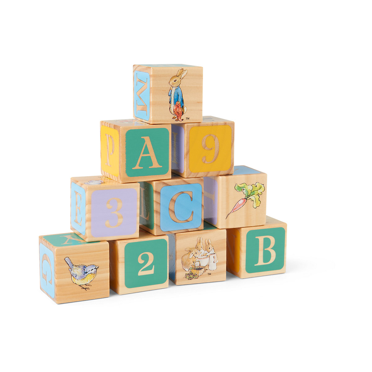 New ELC Kids Beatrix Potter Peter Rabbit Wooden Picture Blocks Toy. 12 months+ - Beatrix Potter Gifts