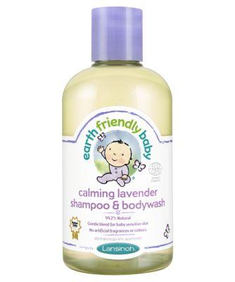 earth friendly baby calming lavender shampoo and bodywash