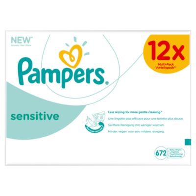 Pampers sensitive baby wipes - 12 x 56 pack