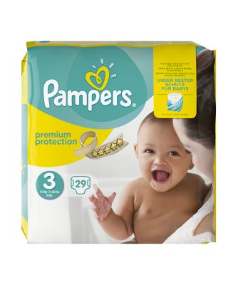 Pampers new baby size 3 midi nappies (5-9kg/11-20lbs) - 29 pack
