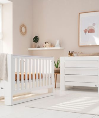 Tutti Bambini Rimini 2 Piece Room Set (Cot, Chest) - Gloss White Finish
