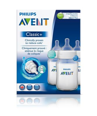Philips Avent SCF563/37 classic+ feeding bottle - 260ml/9oz trio