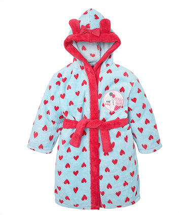 Peppa Pig Fluffy Robe   dressing gowns   Mothercare